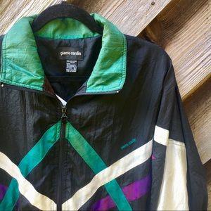 1990s Vintage Pierre Cardin Retro Windbreaker